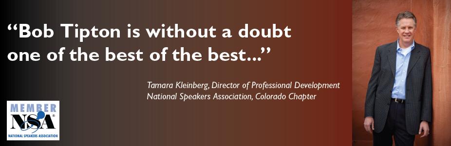 Robert S. Tipton, Transformational Change Keynote Speaker, Denver, Colorado