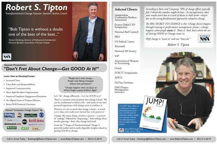 Robert S. Tipton Keynote Speaker_www.RobertSTipton.com GET GOOD AT CHANGE One-Sheet Side-by-Side 2013 (V1)-01